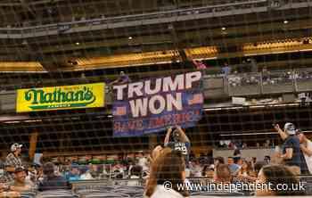 Man goes unpunished despite putting up huge 'Trump Won' banner at baseball games