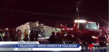 7 muertos en accidente fatal de Rosarito - KYMA
