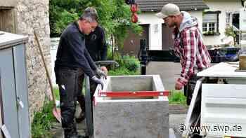 Ortsdurchfahrt Stetten Haigerloch: Beim Feuerwehrhaus plätschert bald wieder ein Brunnen - SWP