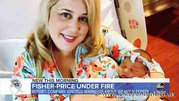 'We trusted a named brand': Parents of two-week-old killed in Fisher Price chair speak out as it's finally recalled two years later