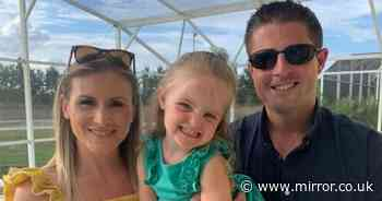 Devastated mum widowed at 31 says daughter, 3, asked to 'visit daddy in heaven'