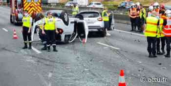 Info trafic. Accident entre 3 voitures sur l'autoroute A6a à Fresnes - actu.fr