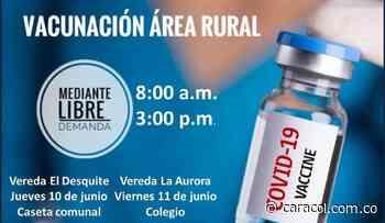 Vacunación anticovid este jueves en zona rural de Manizales - Caracol Radio
