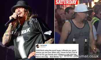 Kid Rock doubles down on homophobic slur amidst social media backlash after making anti-gay remarks