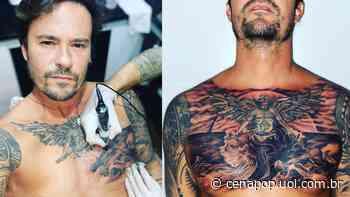 """Paulo Vilhena exibe resultado de tatuagem no peitoral: """"Não vai dar para dormir de bruços"""" - CENAPOP"""