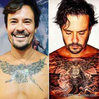 Paulo Vilhena finaliza tatuagem e exibe resultado nas redes - gshow
