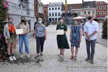 Stadsambassadeurs schenken cheque aan scouts en bibliotheek (Vilvoorde) - Het Nieuwsblad