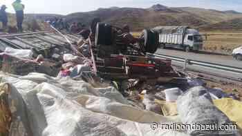 Accidente de tránsito en la ruta Santa Rosa de Melgar a Nuñoa deja dos personas fallecidas - Radio Onda Azul