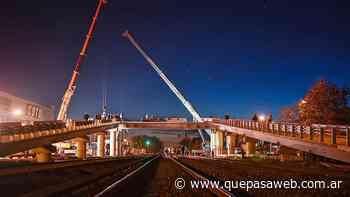 Merlo: este viernes se inaugura el primero de los trece puentes modulares del Tren Sarmiento - Que Pasa Web