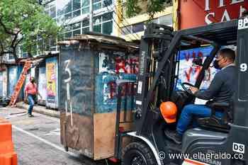 Trasladan a comerciantes de andenes del Centro de Barranquilla - EL HERALDO