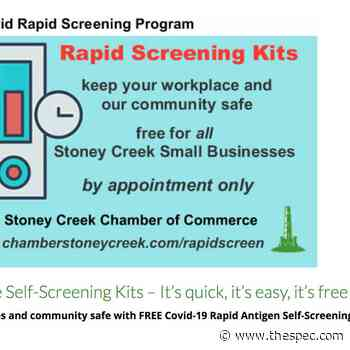 Stoney Creek Chamber of Commerce joins COVID-19 rapid screening initiative - TheSpec.com