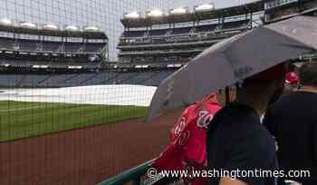 Nationals' game against Giants rained out, day-night twinbill Saturday