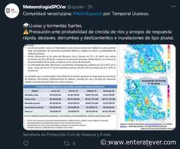 Emiten 'Aviso Especial' por Temporal Lluvioso en Veracruz - Enteratever