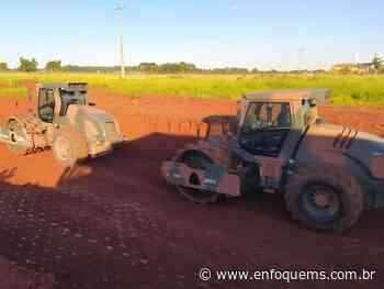 Obras no Aeroporto de Dourados estão em fase de terraplanagem e pavimentação - Enfoque MS