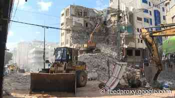 Gazans recycle rubble of destroyed homes to reconstruct enclave