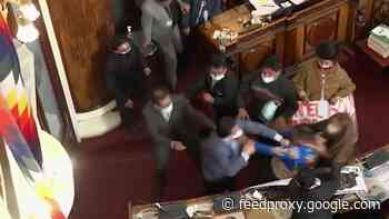 Bolivian politicians trade kicks and punches during Congress session