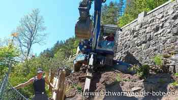 Stützmauer bei Triberg wird saniert - Bundesstraße 33 halbseitig gesperrt - Schwarzwälder Bote