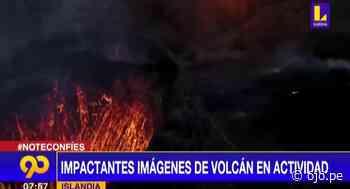 Islandia: Volcán en erupción llama la atención de turistas - Diario Ojo