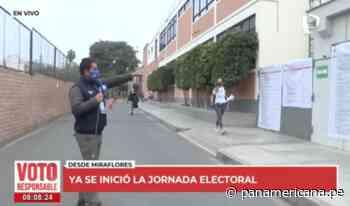 Así inició la jornada electoral en el distrito de Miraflores | Panamericana TV - Panamericana Televisión