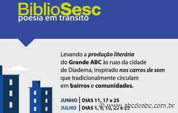 """Sesc da voz ao BiblioSesc distribuindo poesia nas ruas de Diadema com """"Poesia em Trânsito"""" - ABCdoABC"""