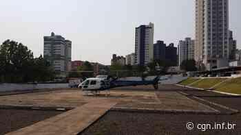 Paciente de Palotina é levado de helicóptero ao Hospital Salete, em Cascavel - CGN