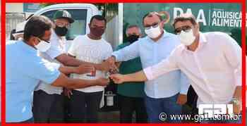 Prefeito Jullyvan Mendes realiza entrega de caminhão-baú - GP1