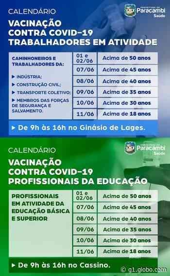 Paracambi vacina trabalhadores ativos de diversos setores contra a Covid-19 - G1