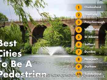Wakefield named one of the UK's most pedestrian-friendly cities - Pontefract and Castleford Express