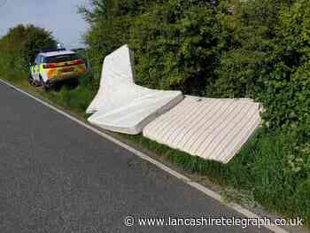 Four mattresses 'disgracefully dumped' at side of road causing obstruction to carriageway
