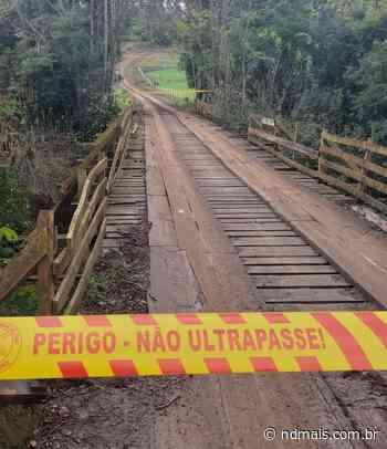 Ponte em condição precária e sem segurança é interditada em Itapiranga - ND Mais