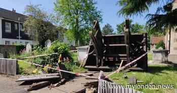 Morden locals devastated as Lychgate war memorial destroyed in car crash - My London