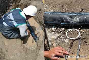 Rompen tubería por obras y dejan sin agua a Lomas de Angelópolis - Municipios Puebla
