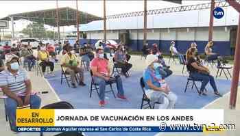 Continúa la vacunación con AstraZeneca en Los Andes - TVN Noticias