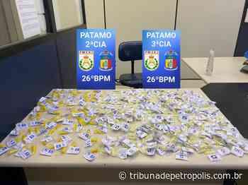 PM encontra 300 cápsulas de cocaína em casa no Carangola   Tribuna de Petrópolis - Tribuna de Petrópolis