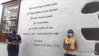 Rincones y fachadas del casco de Los Llanos de Aridane se llenan de frases para homenajear a La Patrona - elapuron.com