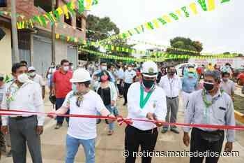 Municipalidad de Tambopata inaugura jirón Ramón Castilla en el asentamiento humano Miraflores - Radio Madre de Dios