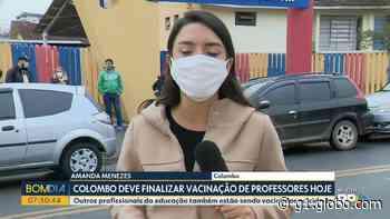 Covid-19: Colombo deve finalizar vacinação de professores e profissionais da educação nesta quarta-feira (9) - G1