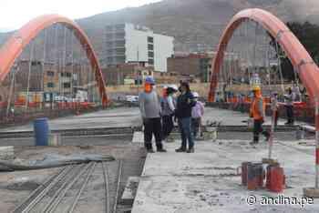 Huánuco: obras del puente Pavletich registran un 82 % de avance - Agencia Andina