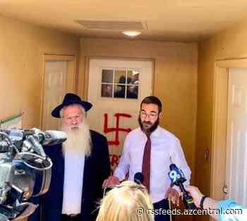 'The feeling is devastating': Tucson synagogue vandalized with swastika, anti-Semitic slur