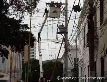 Restablecen servicio de energía en sector del Centro Histórico de Santa Marta - Opinion Caribe