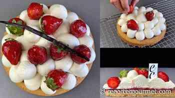 Come preparare la Torta Sablé Breton con fragole fresche e crema chantilly al mascarpone - Reporter Gourmet