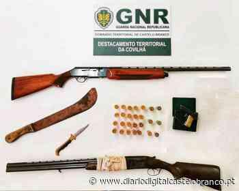 Covilhã: GNR apreende armas de fogo e identifica suspeito de ameaças - Diário Digital Castelo Branco