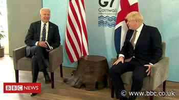 Boris Johnson 'won't disagree with Joe Biden on anything'