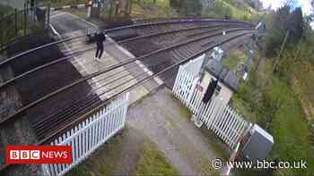 Network Rail releases CCTV footage of people playing on train tracks