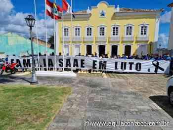Servidores do SAAE realizam manifestação em Penedo e apresentam pauta de reivindicação - Aqui Acontece