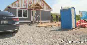 Oromocto high school students give back through Habitat for Humanity - Global News