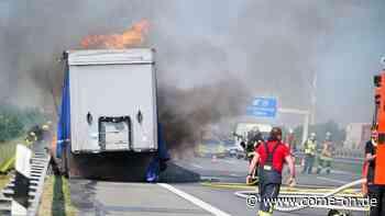 Brand auf A2 bei Beckum/Hamm: Lkw in Flammen - Vollsperrung - Meinerzhagener Zeitung