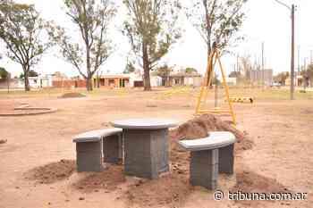 Vecinos y Municipalidad pusieron en valor la plaza de barrio Monte Grande - Tribuna