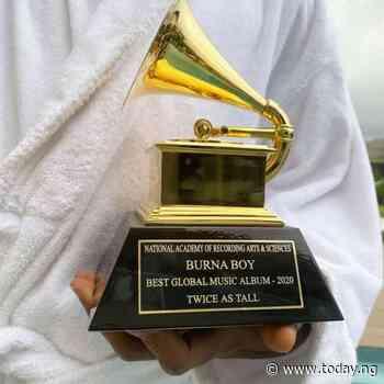 Burna Boy receives Grammy award plaque