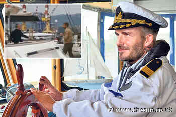 David Beckham checks out £10million luxury superyacht on a trip to Italy... - The Sun